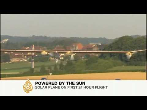 Solar plane completes maiden flight