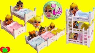 LOL Surprise Lil Sisters Triple Bunk Beds Sleepover