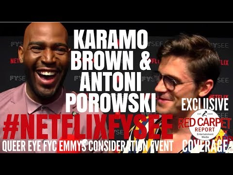 "Karamo Brown & Antoni  Porowski interviewed at the ""Queer Eye"" Netflix FYSee Event #NetflixFYSee"