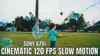 120 fps Sony A7III slow motion sample footage test | Bubbles