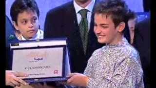 "Valerio Scanu The Winner 2002 - ""Bravo Bravissimo"" singing contest for children"