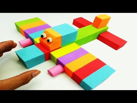 DIY How To Make Kinetic Sand Rainbow Airplanes Learn Colors with Johny Johny YES Papa Nursery Rhymes