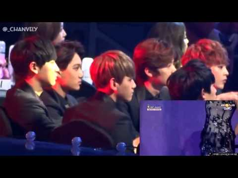 "Exo Reation To Sistar ""Give It To Me"" (3rd GAON Chart Kpop Awards)"