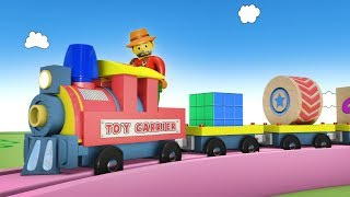 Cartoon Toys for Kids - Videos For Children - Toy Factory Cartoon - Cartoon Cartoon - Trains - JCB