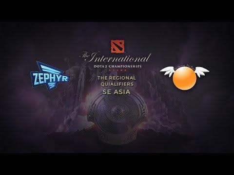 Zephyr -vs- Orange Esports, TI4 SEA Qualifier, Round 7