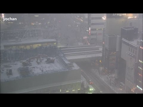 Capital under heavy snow - Shibuya, Tokyo Metropolis