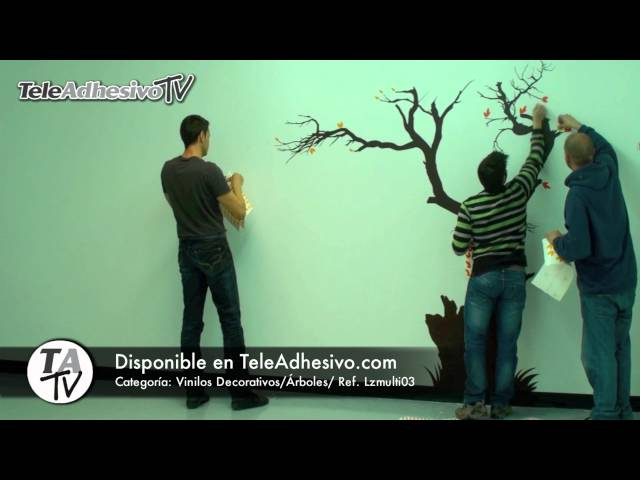Vinilo Decorativo Árbol Multicolor - Instalación - HD