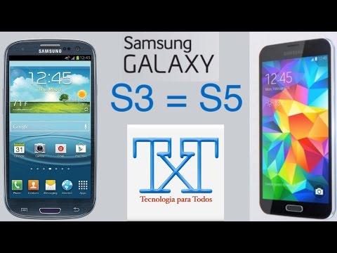 Como convertir tu Samsung Galaxy s3 I9300 en un Galaxy s5 facìl. ràpido. bien explicado