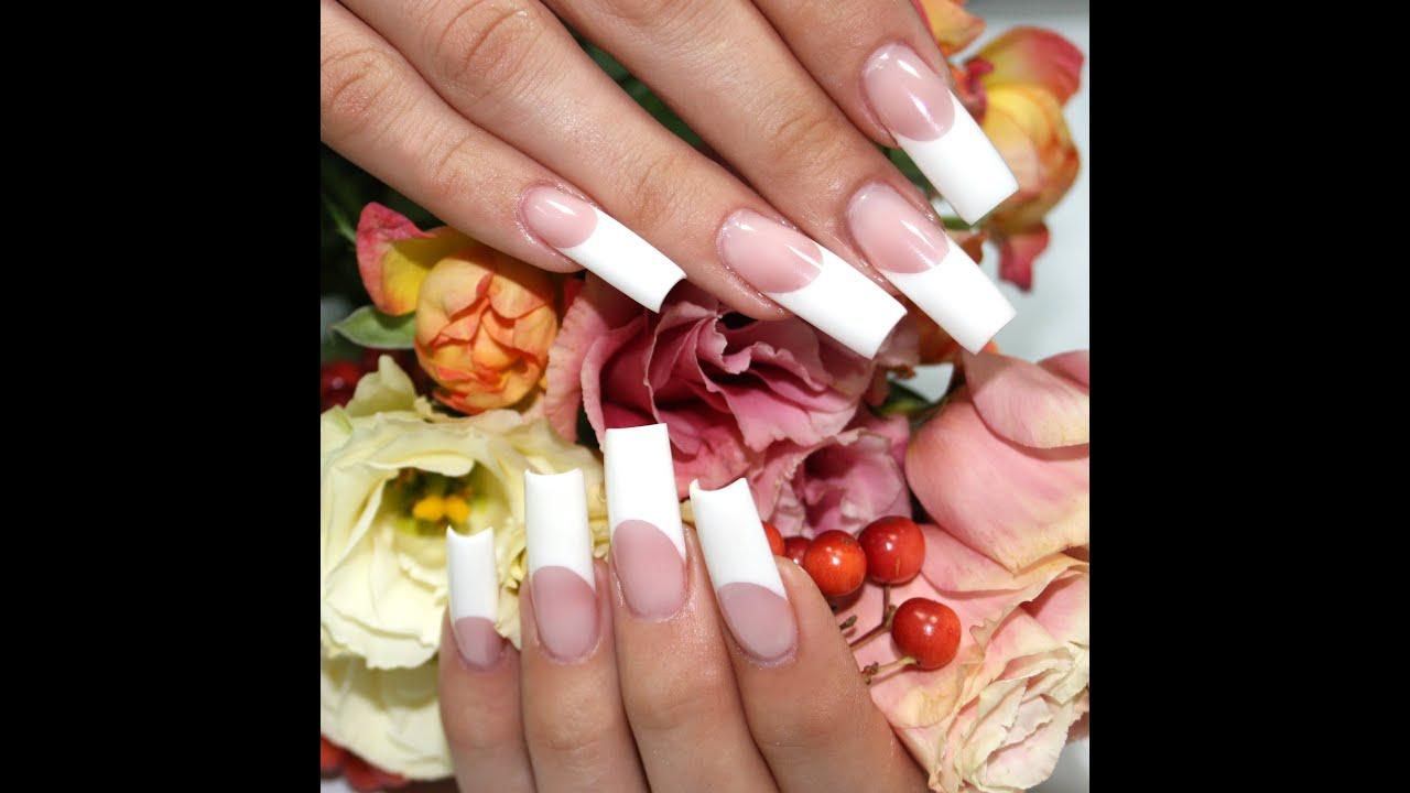 Пошаговое наращивание ногтей гелем с френчем фото