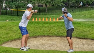 Epic FlingGolf Battle for $100 | Brodie Smith & Andrew East