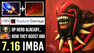 NEW BOOST 7.16 SCEPTER Bloodseeker +18% Damage Rupture Epic Divine 5 Gameplay by Topson WTF Dota 2