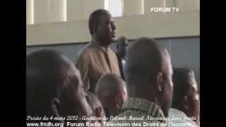 Procès du 4 mars 2012   Audition du Colonel Marcel Ntsourou 2ème partie