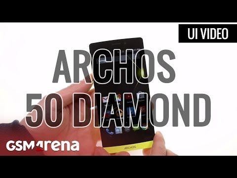 Archos 50 Diamond User Interface
