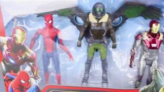 Spiderman Homecoming toys unboxing - Ironman and Marvel's Vulture