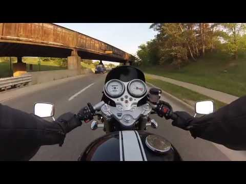 Triumph Thruxton Motorcycle Ride with GoPro Hero3 and Chesty