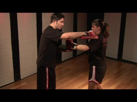 Kickboxing Pad Drills : Kickboxing Pad Drill: Hook Punch Image 1