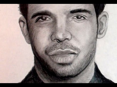 How to Draw Drake Step by Step (Portrait) Pencil Drawing - YouTube