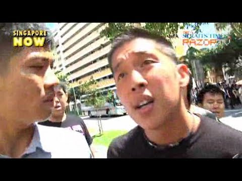 Friends turn aggressive at murdered teen's funeral (Darren Ng's final journey Pt 1)