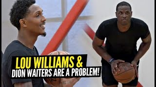 Lou Williams & Dion Waiters TEAM UP and Get SAUCY at an OPEN RUN!! NBA Pros vs Overseas Pros!