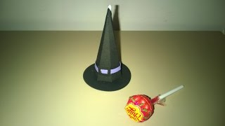 SCATOLINA PORTA LECCA LECCA HALLOWEEN -CAPPELLO STREGA - WITCH HAT BOX