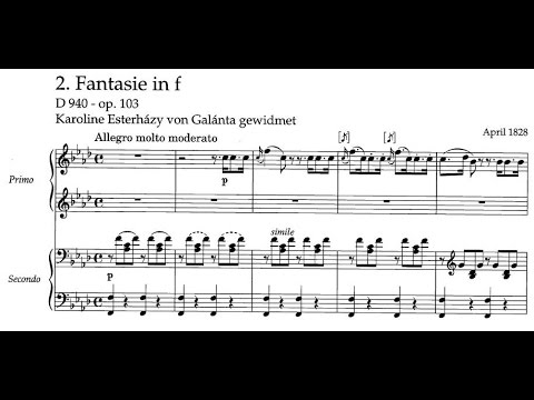 Шуберт Франц - Works for 4 hands D.940 Fantasia f-moll