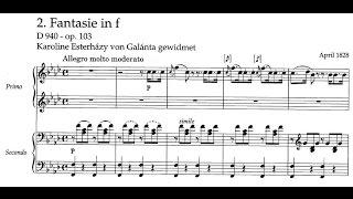 Franz Schubert - Fantasia for piano, 4 hands in F minor, D. 940