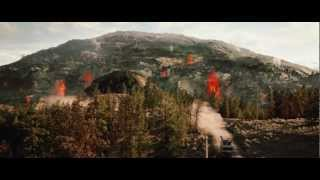 Scene from the movie 2012 - Yellowstone erupts (HD)