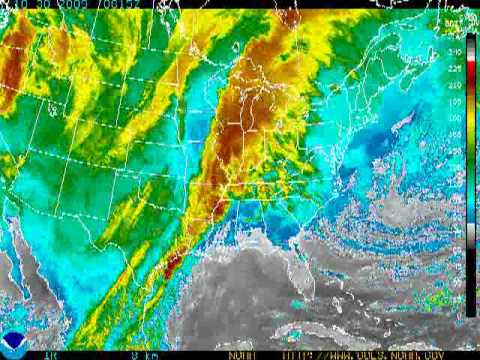 2009 full yr colorized GOES East weather satellite
