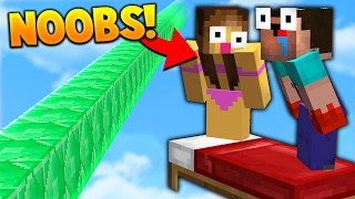 TEACHING TWO NOOBS HOW TO PLAY BED WARS!
