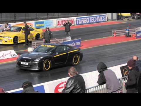 Severn Valley Motorsport (SVM) R35 GTR 1/4 Mile UK & European Record & into the 8 sec 29.09.12