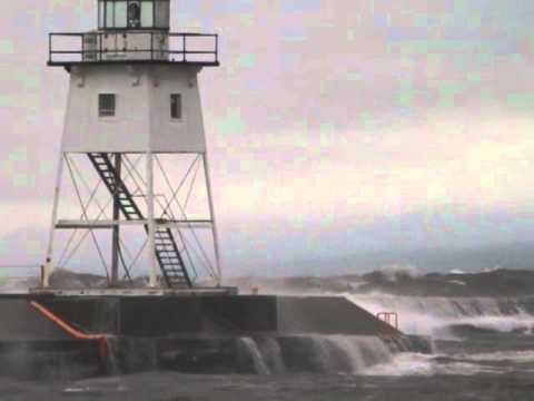 Lake Superior Storm Grand Marais Lighthouse Grand Marais Minnesota
