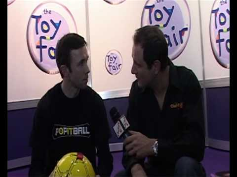 Popitball UK Premiere - Filmed by Clubit TV at London Toy Fair 2010 - Popit Ball review