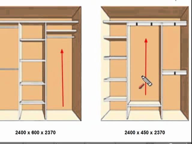 Как из ниши сделать шкаф купе своими руками 53
