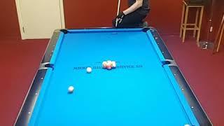 Artistic pool skill power!