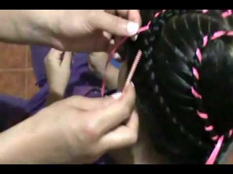 corazón doble peinados para niñas paso a paso