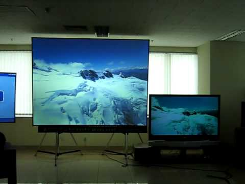 130'' huge projection screen, bright even more than a TV / Mocom screen
