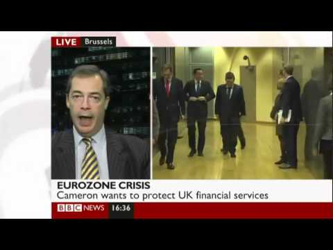UKIP Nigel Farage BBC Dec 2011 - David Cameron encouraging the Destruction of European Democracy