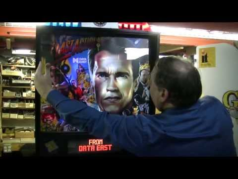 #251 Data East LAST ACTION HERO Pinball Machine in private home since 1993! TNT Amusements