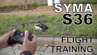 SYMA S36 FLIGHT TRAINING | CARA MENERBANGKAN HELI SYMA 3,5 CH |