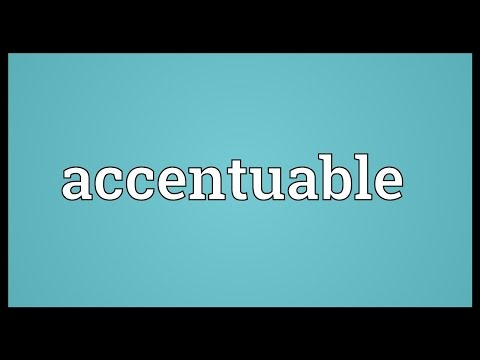 Header of accentuable