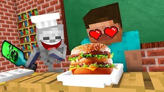 Monster School : FUNNY COOKING Challenge - Minecraft Animation