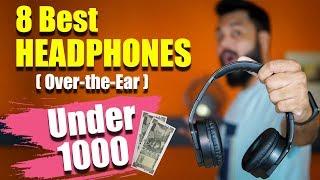 Top 8 Best Over-the-Ear HEADPHONES (Not Earphones) UNDER ₹1000 🎧🎧🎧 Wired & Wireless