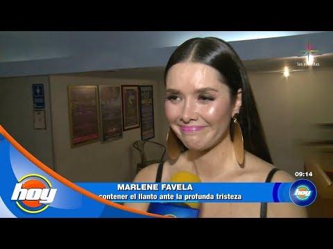Marlene Favela, a punto de romper en llanto frente a las cámaras   Hoy