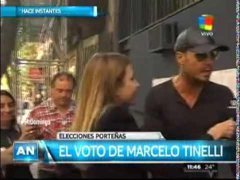 Marcelo Tinelli votó acompañado por su hijo Lorenzo