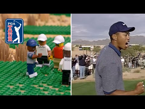 LEGO Tiger Woods' ace on No. 16 at 1997 Phoenix Open