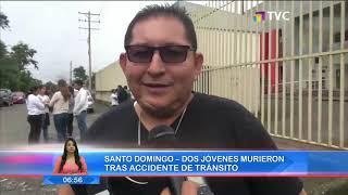 Dos jóvenes murieron en accidente de tránsito en la vía Santo Domingo