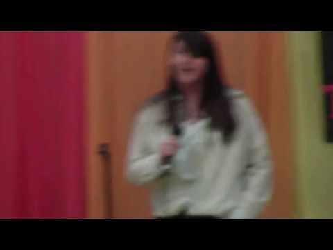 Shiann Sigmon singing at talent show May 2013 at Chapmanville Middle School , Chapmanville, Wv