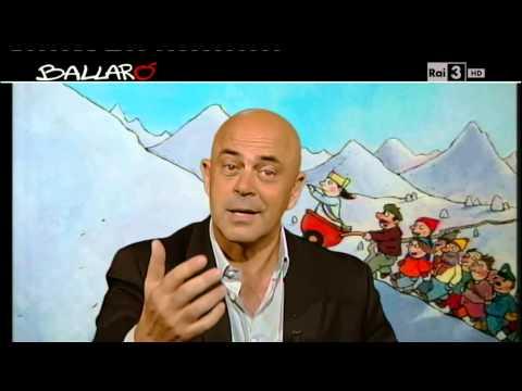 """Ballarò – Maurizio Crozza """"Gasparri è rassicurante come avere un acquario, non serve a niente, ma arreda"""""""
