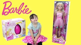 Real Life Size Barbie Doll | Giant Barbie Doll & Egg Surprise | The Disney Toy Collector