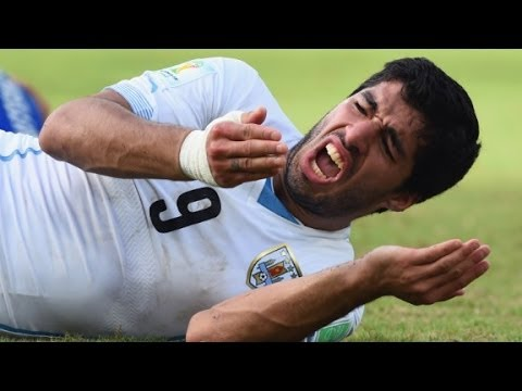 Did Uruguay soccer star BITE other player?!